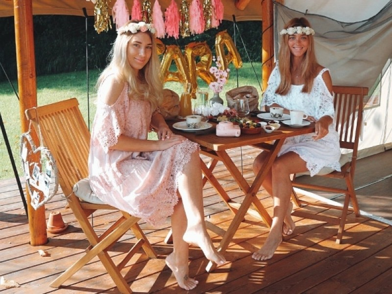 Luxury glamping Bachelorette party